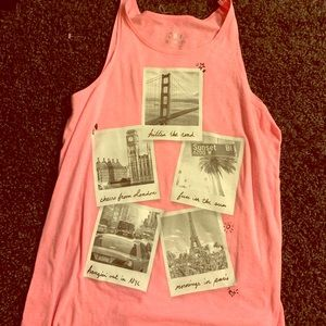 Girls size 18 justice tank used